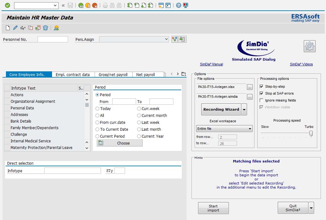 Seamless integration of the SimDia² Cockpit into the SAP user interface