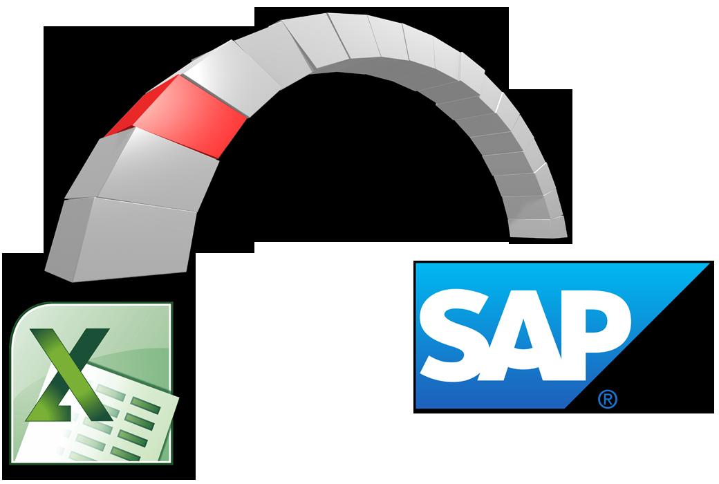 Symbolic bridge for data exchange between Excel and SAP