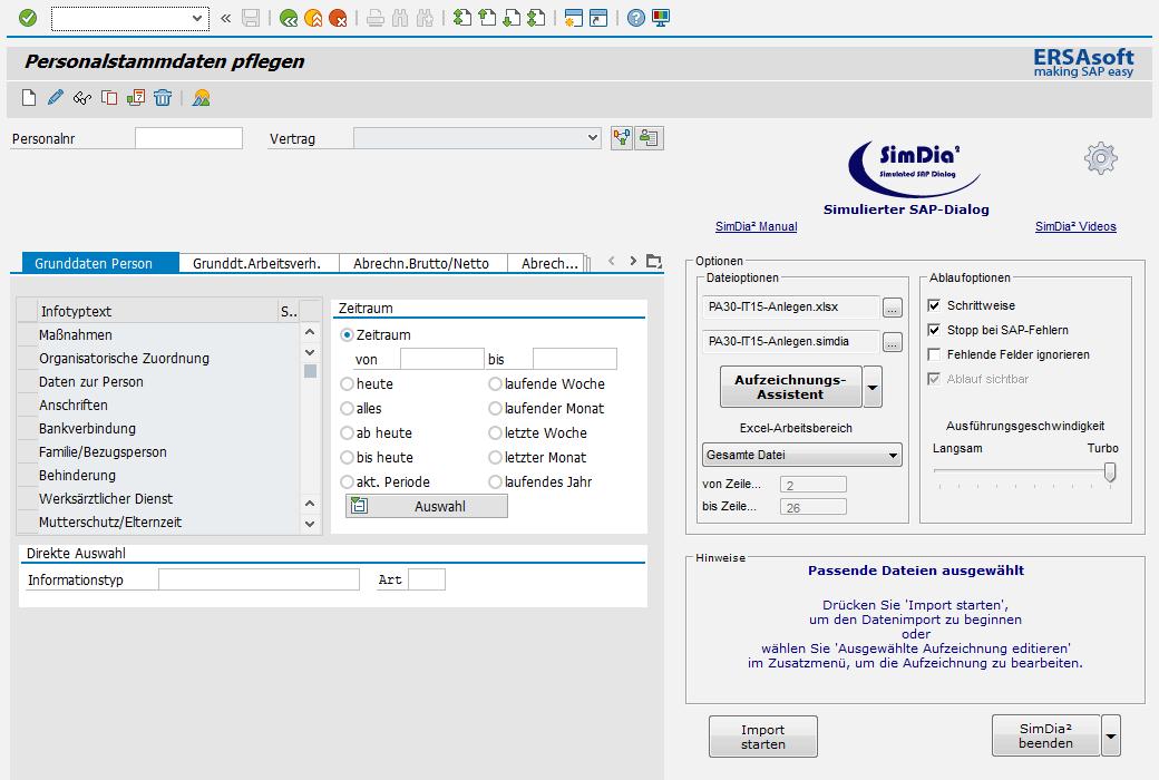 Nahtlose Integration des SimDia² Cockpit in die SAP-Benutzeroberfläche